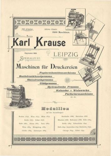 Krause-Werbung 1895 (Sammlung Holger Schmelzer)