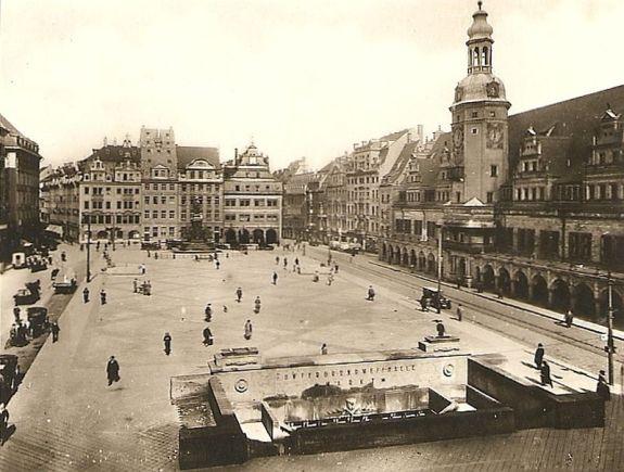 Markt mit Altem Rathaus 1929