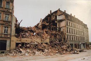 Prager Straße 1992, Blick Richtung Riebeckstraße (Foto: Norbert Lotz)