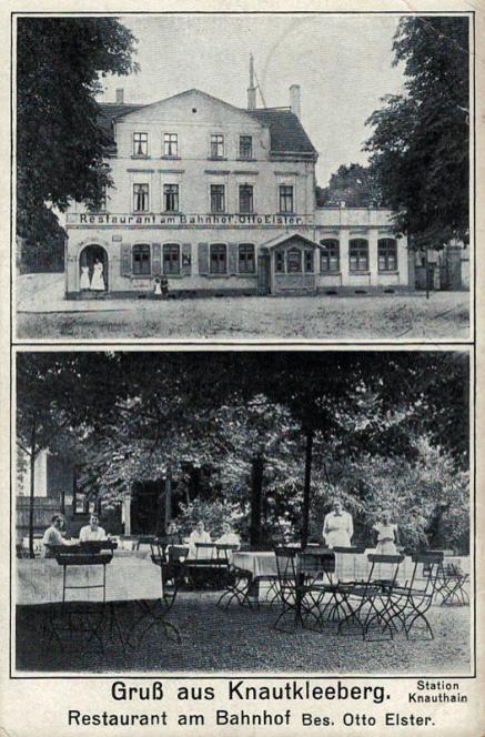 Restaurant am Bahnhof (Station Knauthain), 1917