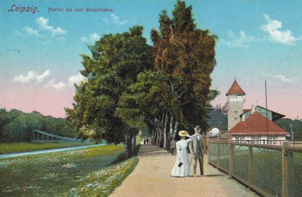 Partie an der Rennbahn, zwischen 1914 und 1918