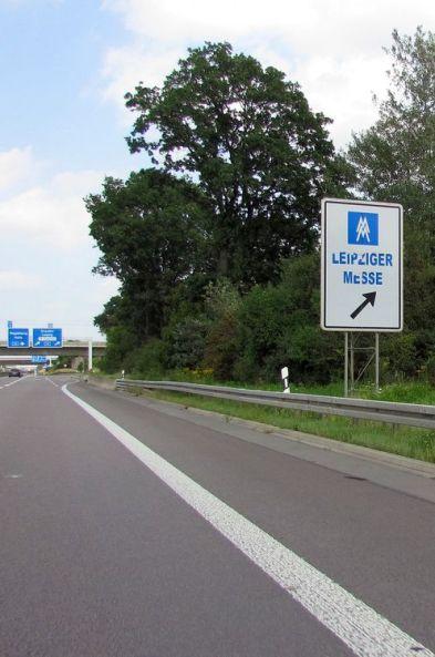 Auf der Autobahn rund um Leipzig