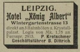 Aus dem Adressbuch von von 1905