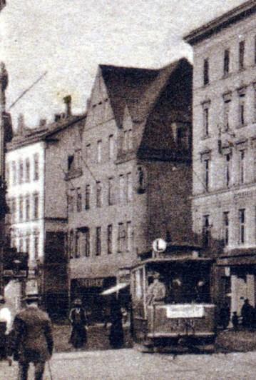 Wintergartenstraße 13 auf einer Postkarte von 1918