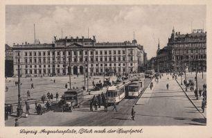 Augustusplatz mit Hauptpost, Anf. 20. Jh. (Archiv Holger Schmelzer)