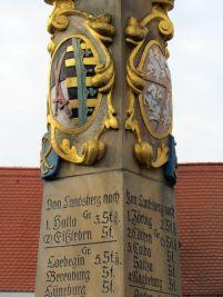 Sächsische Postmeilensäule in Landsberg