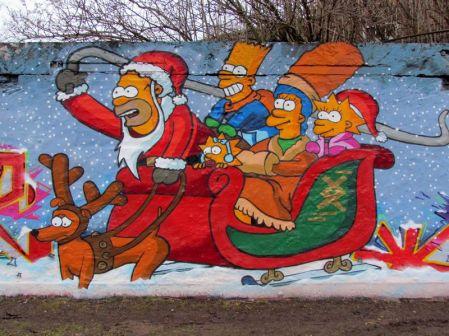 Die Simpsons an der Gießerstraße