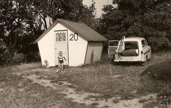 Urlaub 1973, Trabbi mit Leipziger Kennzeichen