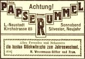 Anzeige in der LVZ vom 30. Dezember 1911