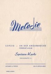 """""""Speisen-Karte"""" der Tanzbar Melodie, 1960"""