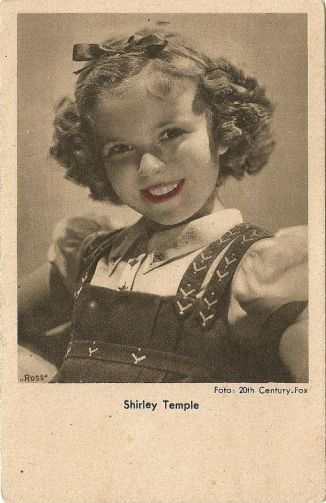 Starpostkarte Shirley Temple