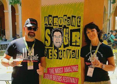 Grit und Tilo mit der Gose auf Tour in Italien