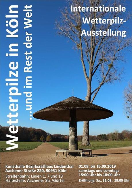 Flyer zur Wetterpilzausstellung in Köln