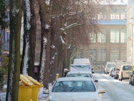 Blick von der Dölling- zur Riesaer Straße