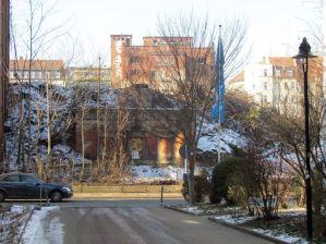 Januar 2017: Vorn Erich-Zeigner-Allee, oben Sudhaus