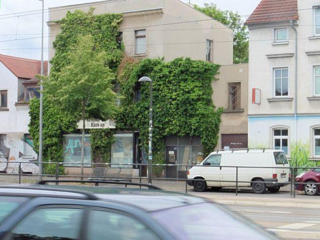 Grüne Wand in Probstheida (Prager Straße)