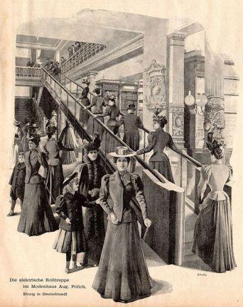 Mode(n)haus Polich mit der ersten Rolltreppe (Archiv JR)