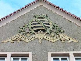 Sächsisches Wappen in Halle (Paulusviertel)