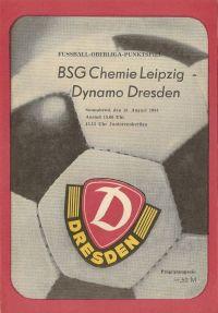 Programmheft von Dynamo Dresden