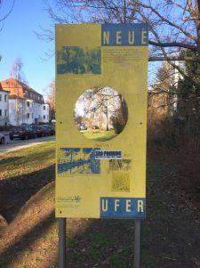 Neue-Ufer-Schild in der Rosentalgasse