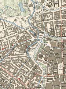 Zentrumsnahe Gewässer auf einem Plan von 1912 (Archiv Harald Stein)
