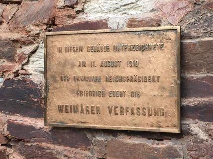Friedrich-Ebert-Gedenktafel in Schwarzburg