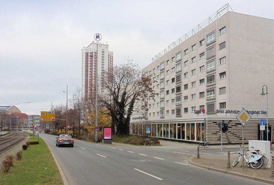 Georgiring, Blick zum Wintergartenhochhaus
