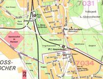 Stadtplan aus den 1980ern noch ohne Hornstraße