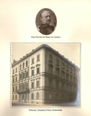 König von Sachsen / Königliches Palais, Goethestraße