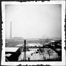 Blick von der Wiprechtstraße zur Jutespinnerei (Archiv Kieseler)