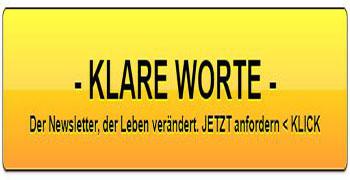 KLARE WORTE Newsletter anfordern