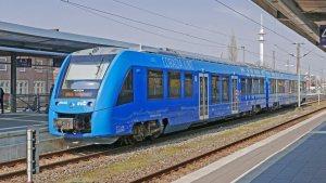 Personenzug mit Wasserstoff Antrieb