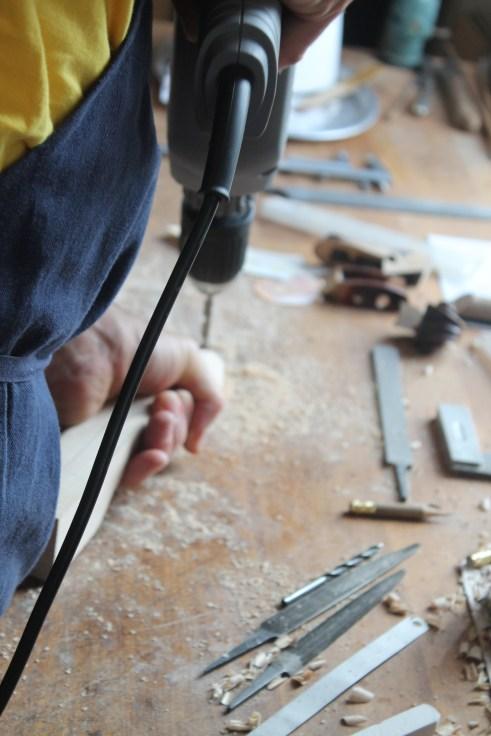...und von mir gebauten Instrumenten im Schüler- bis Profisegment.