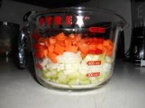 Cut up the veggies...