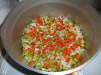 Veggies in the pot...