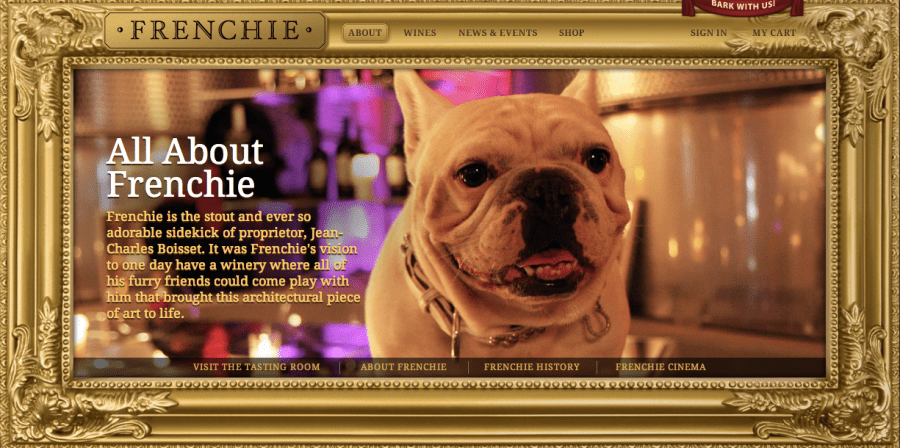 frenchie winery vino per cani