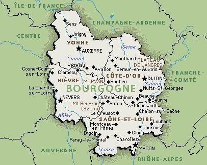 carte Bourgogne