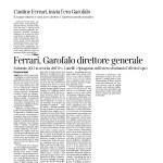 14 gennaio 2016 Corriere Del Trentino Cantine Ferrari inizia l'era Garofalo