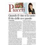 28 marzo 2015 Corriere del Trentino e Corriere dell'Alto Adige Quando il vino si fa santo