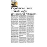28-12-2016 Corriere del Trentino Capodanno a tavola Torna la voglia del cenone al ristorante