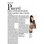2-07-2016 Corriere del Trentino e dell'Alto Adige Egna, weekend del gusto sotto i portici vino e storia