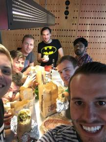 Chipotle with the lads