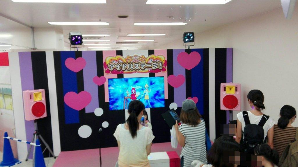 プリキュアイベントのアイドルステージ
