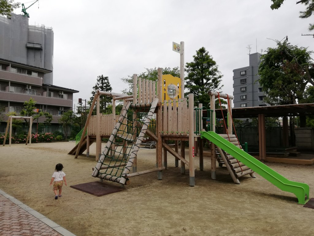 古川親水公園の遊具
