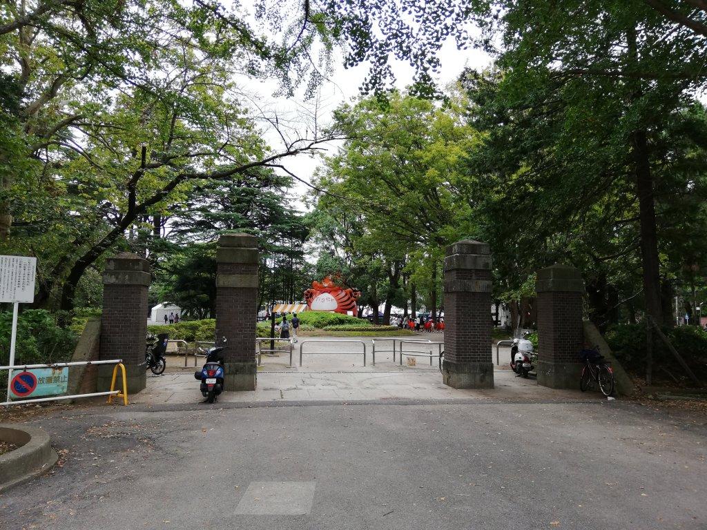 松戸中央公園の門