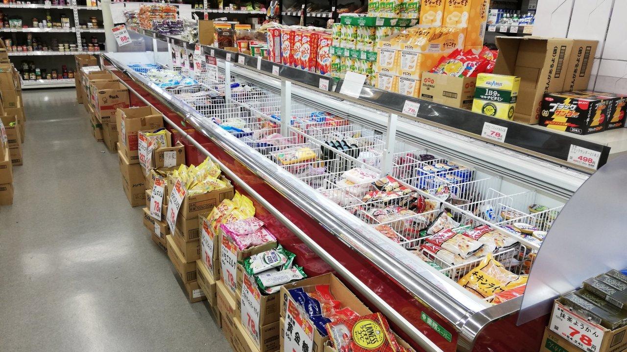 業務スーパーの冷凍食品売り場