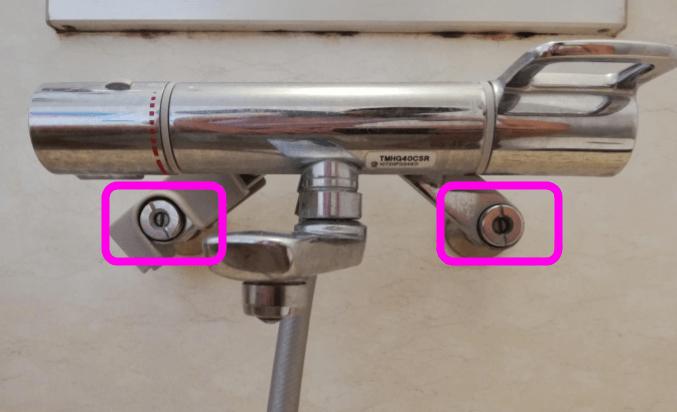 壁付水栓の水の元栓