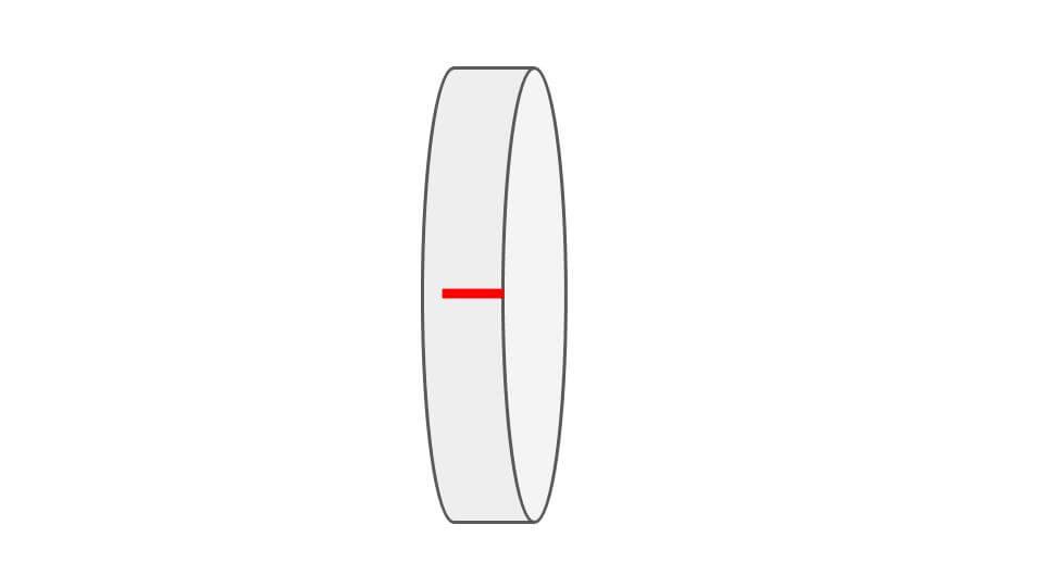 TMHG40の板ばねガイドには小さな切れ込みが入っている