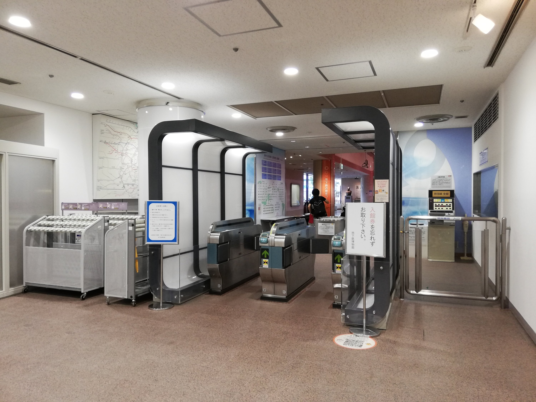地下鉄博物館の入場ゲート