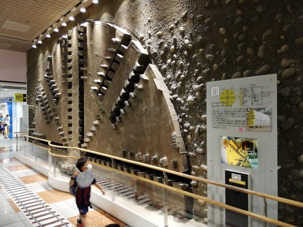 地下鉄博物館の実物大トンネル掘削機